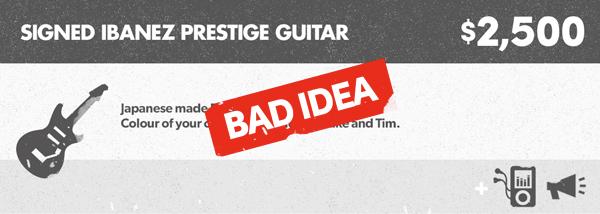 Pack 10 - Signed Ibanez Prestige Guitar
