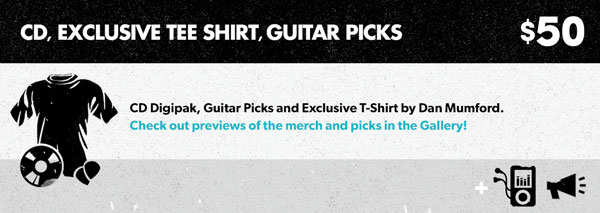 Pack 4 - CD, Exclusive Tee-Shirt, Guitar Picks